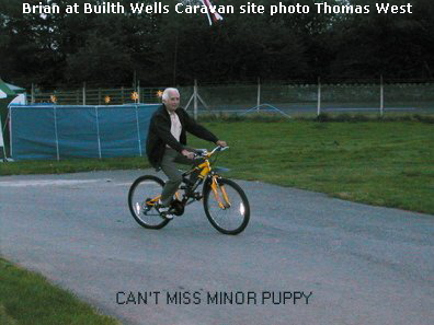 BRIAN SQUIRE ON A BIKE